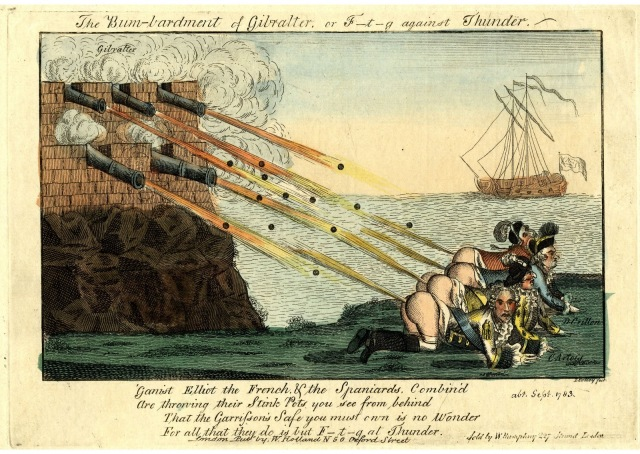1782 - T Colley - Satirical Print - Red Hot Shot